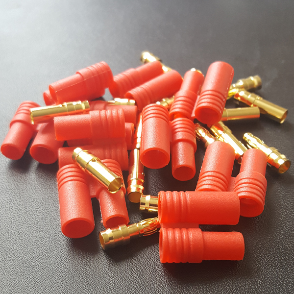 HXT 3.5mm Gold Connectors with Protectors 10pk