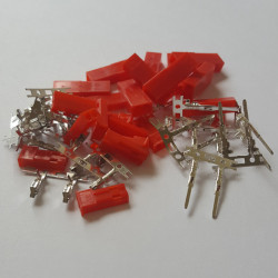 10 Sets 2 Pin JST (BEC) Connector Housing And Pins