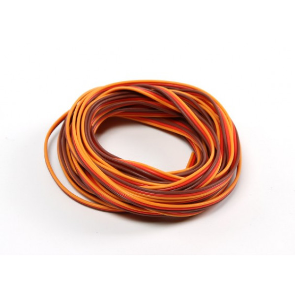 Servo Wire 1mtr (Red/Brown/Orange)