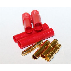 HXT 3.5mm Gold Connectors with Protectors 5pk