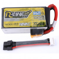 Tattu R-Line 1550mAh 100C 4S1P 15.2V High Voltage Lipo Battery Pack-Version 2.0 With Detachable Balance Cable