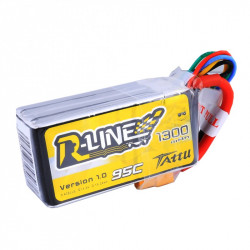 Tattu R-Line 1300mah 4s 95c Lipo Battery Pack