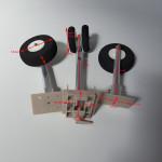 Steerable Undercarriage - metal spring  shock absorbing arms -  foam wheels