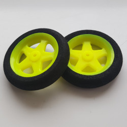 Ultra Light Foam Wheel 36x8mm (Pair) 5 Spoke