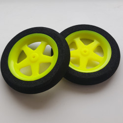 Ultra Light Foam Wheel 46x8mm (Pair) 5 Spoke