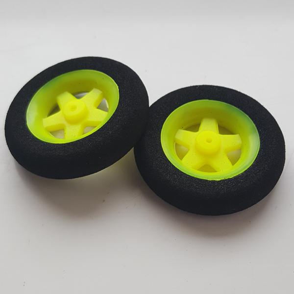 Ultra Light Foam Wheel 30x7mm (Pair) 5 Spoke