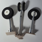 Steerable Undercarriage - metal spring  shock absorbing arms -  foam wheels