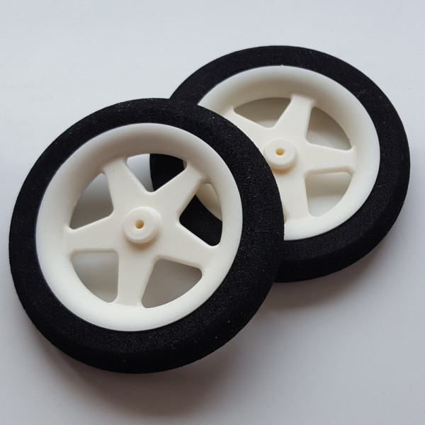 Light Foam Wheel 55x10mm (Pair) 5 Spoke