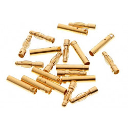 2mm Gold Bullet Connectors 10 Pairs (20pcs)