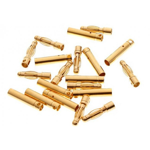 3mm Gold Bullet Connectors 10 Pairs (20pcs)